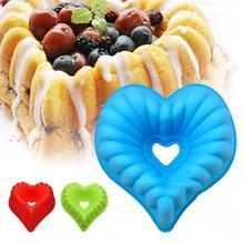 ZUCKWU De gran tamaño en forma de corazón de la torta del molde diy 10 pulgadas pizza, tartas, pasteles de queso, pan, la jalea, el pudín molde de silicona