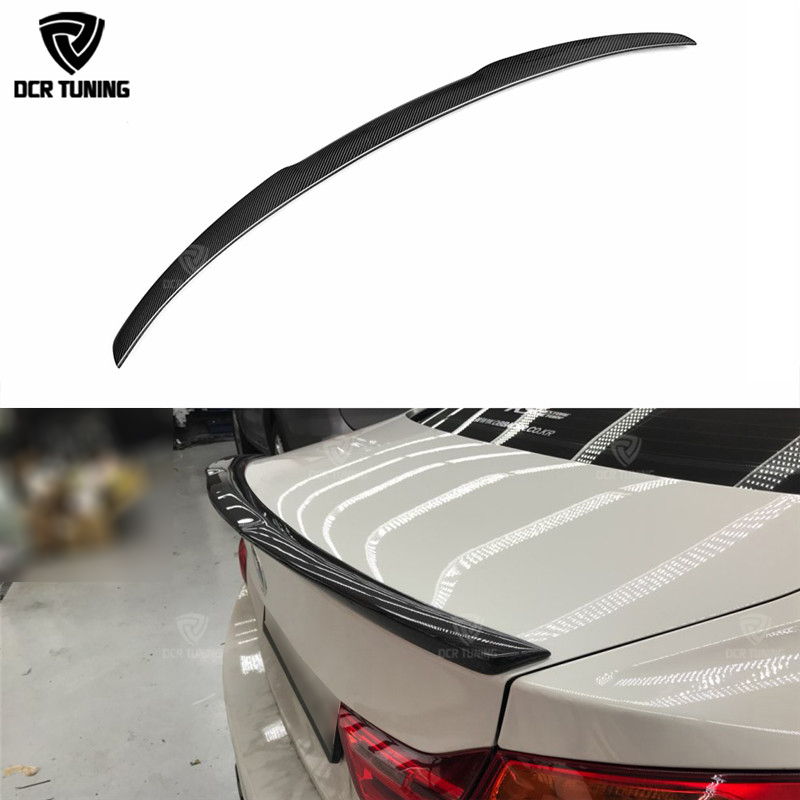 For BMW F32 Carbon Spoiler 4 Series 2 Door Coupe F32 Carbon Fiber Rear Trunk Spoiler M4 Style 2014 2015 2016 - UP 420i 428i 430i p style for bmw f32 spoiler carbon fiber material 4 series coupe f32 carbon spoiler 2 door carbon wings 2014 2015 2016 up