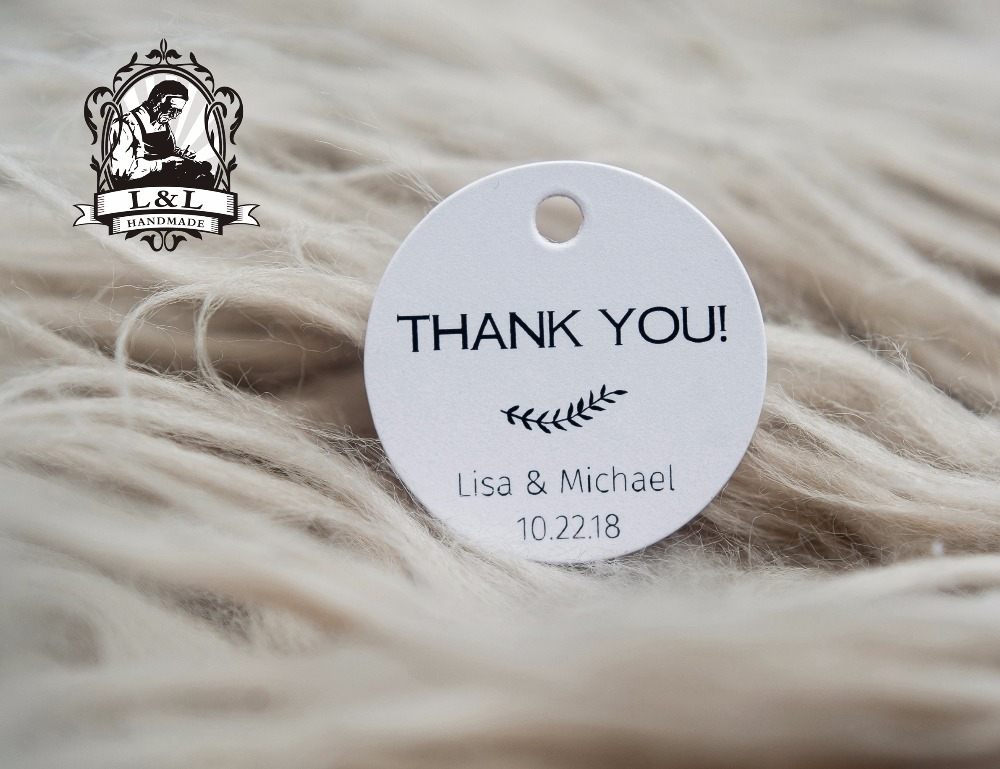 Us 9 25 200 Pcs 3 5cm Round Kraft White Paper Label Thank You Tags Personalized Tag Gift Tags Attend A Wedding Invitationlove Label In Garment Tags