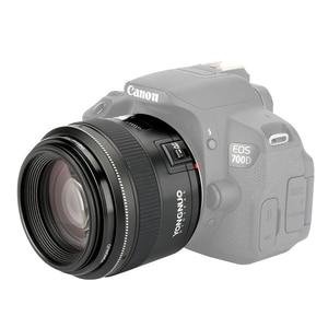 Image 2 - YONGNUO YN85mm F1.8 מצלמה עדשה עבור Canon EF הר EOS 85mm AF/MF סטנדרטי בינוני טלה קבוע מוקד עדשת מצלמה