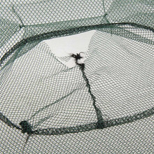 Foldable Portable Hexagon 6 Hole Fishing Shrimp Trap Fishing Net Fish Shrimp Minnow Crab Baits Cast Mesh Trap Nets Hot Sale