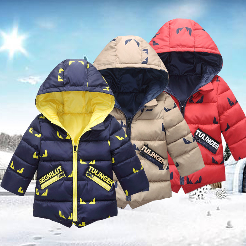 Baby Children Winter Parka Jacket For Boys Girls Hoodie Coat Autumn Brand Warm Cotton Long Sleeve Clothes for 2 3 4 5 6 7 Years 3d dollars pattern hooded long sleeve fitted trendy cotton blend hoodie for men
