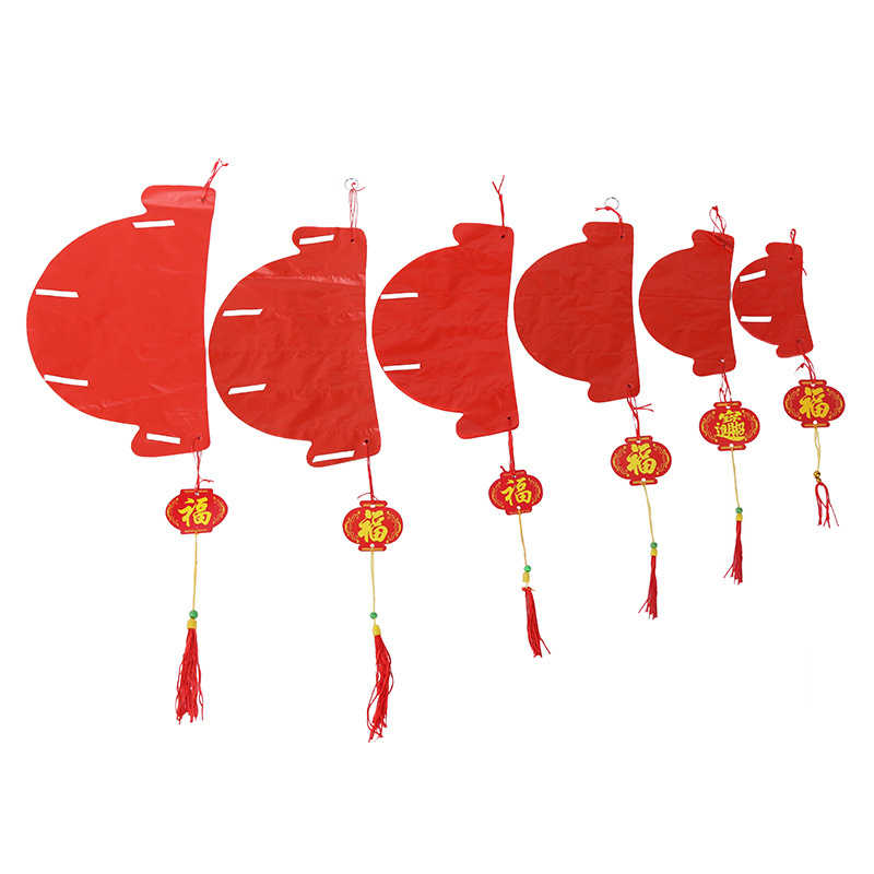 """HAOCHU 10pcs 6""""8""""10""""12""""14""""16"""" Red Chinese Traditional Paper Lantern 6 Sizes Honeycombs For New Year Wedding Party Birthday Decor"""