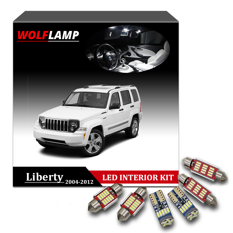 2004 Jeep Liberty Interior: Wolflamp 13Pcs White Ice Blue Canbus LED Interior Car