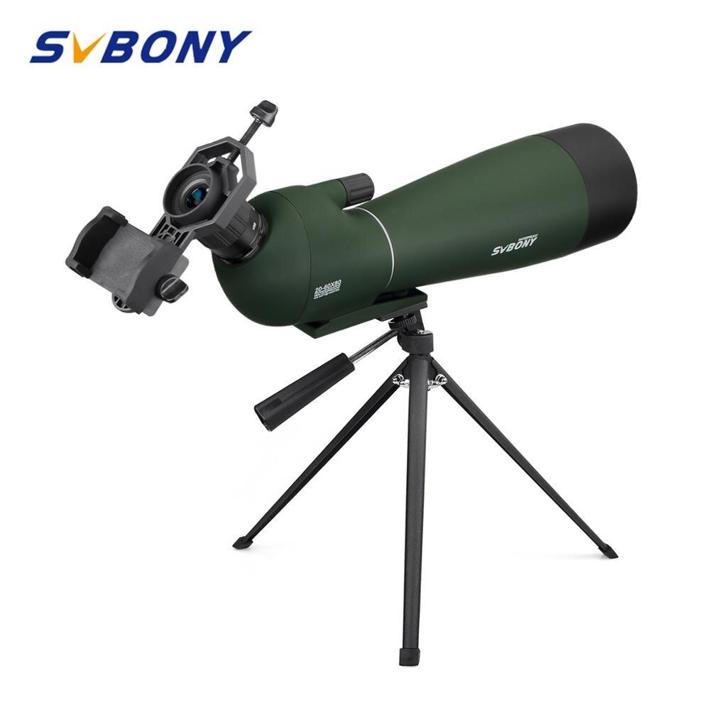 SVBONY Zoom Spotting Scopes BAK4 Prism 20 60x80mm Birdwatching Hunting Monocular Telescope Spyglass Waterproof Telescopes F9308