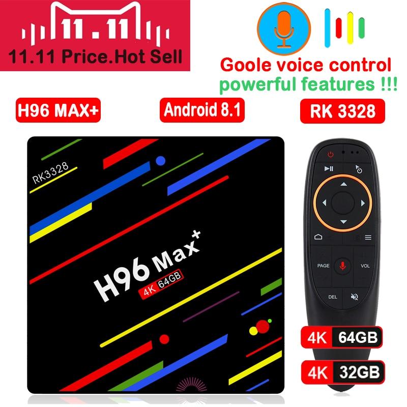 H96 MAX Plus TV Box Android 8.1 4GB 32GB 64GB Smart Set Top Box RK3328 Quad core 5G Wifi 4K H.265 Media Player H96 Pro H2 mini h96 max plus tv box android 8 1 4gb 32gb 64gb set top boxes rk3328 quad core 4k ultra hd h 265 usb 3 0 wifi 2 4g media player
