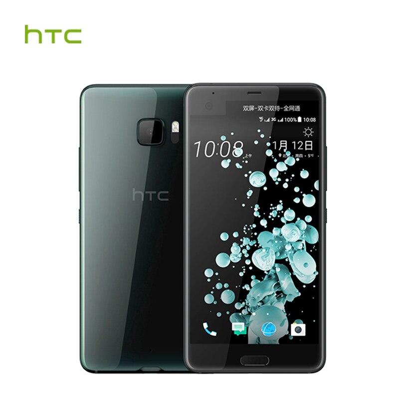 Originale HTC U Ultra LTE 4 gb di RAM 64 gb ROM Snapdragon 821 Del Telefono Mobile 2560x1440px Android 7.0 Quad Core 3000 mah NFC