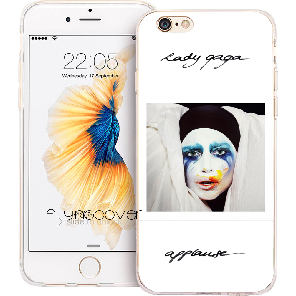 Coque Lady JOANNE GAGA Phone Cases for iPhone 10 X 7 8 6 6S Plus 5S 5 SE 5C 4S 4 iPod Touch 6 5 Case Clear Soft Silicone Cover