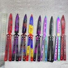 3 colors stainless steel knife Training Knife titanium knife