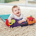 0-12 Months Baby Multifunctional Teether Baby Toys Play Mats Roller Pillow Baby Toy And Baby Folding Crawling Blanket