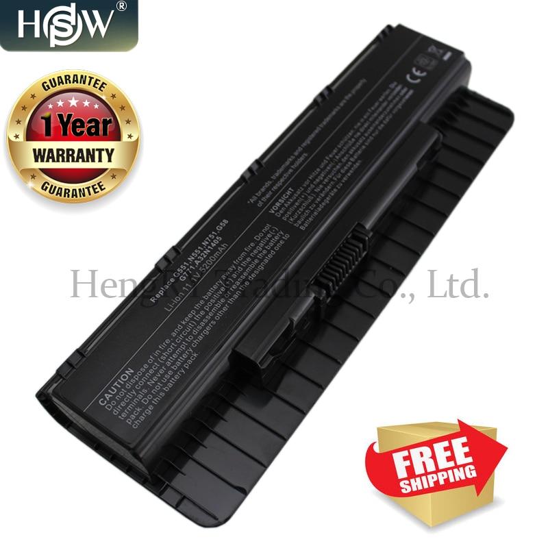HSW 6Cells A32N1405 New Battery For ASUS ROG N551 G551 G771 G771JK G551J G551JK G551JM G551JW Series A32N1405