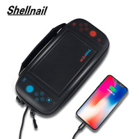 Shellnail Charge Case For Nintend Switch Water resistent Storage Bag With USB Charging For Nitendo Switch NS Console Accessories