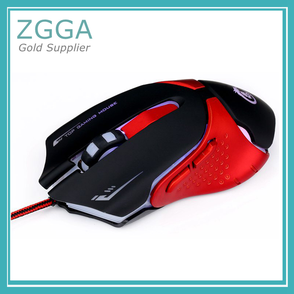 USB 2.0 Wired Optical Gaming Mouse For Windows 7/8/2000/XP/Vista Colorful 7 LED Backlight DPI 1200/1600/2400/3200
