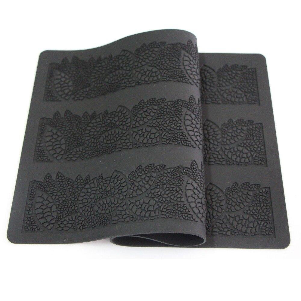 Daun silikon penaik mat kue renda acuan bunga corak fondant acuan kek - Dapur, makan dan bar - Foto 2