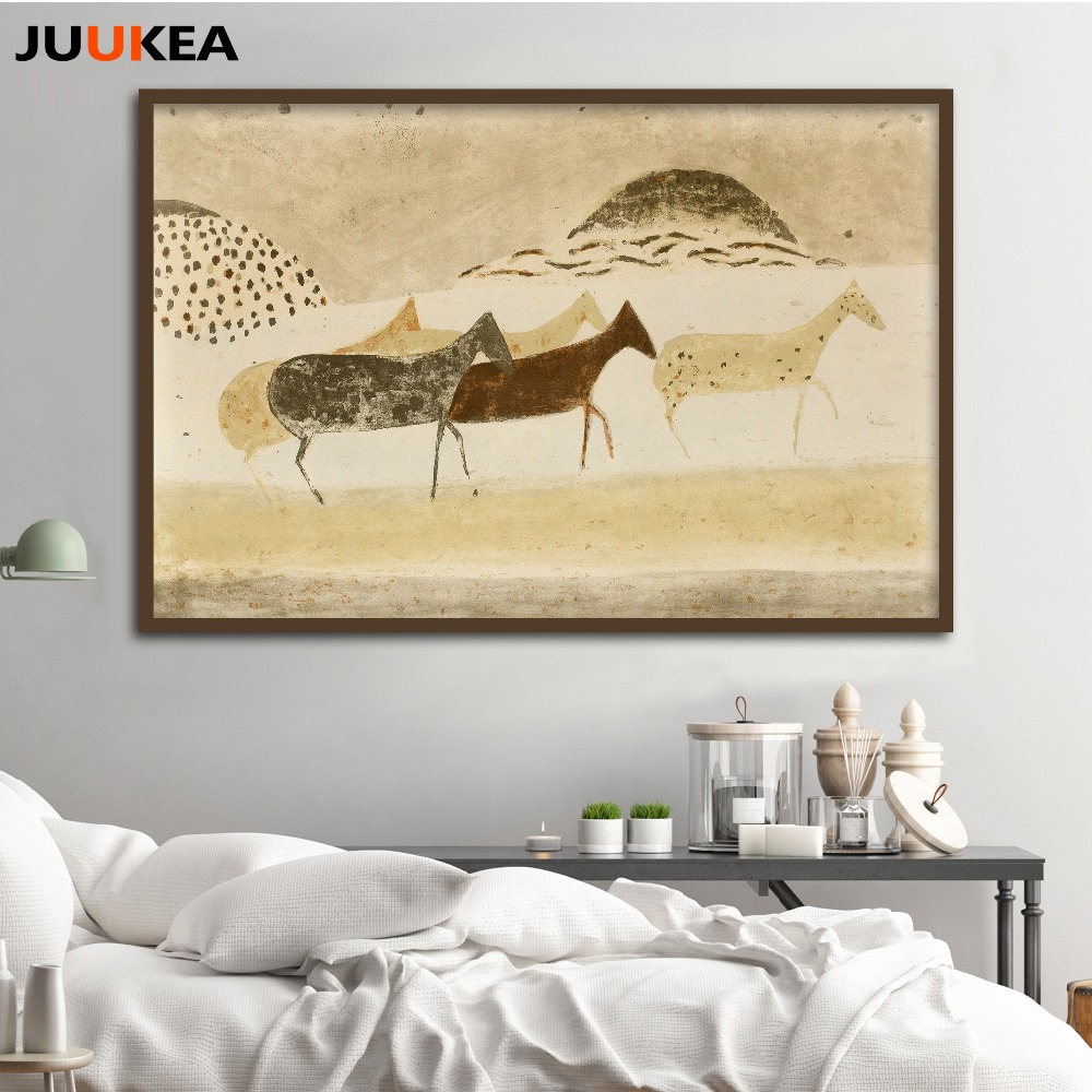 Egyptian Civilization Oil Painting Migration Print On Canvas Classic ...