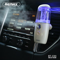 Remax portable car ultrasonic humidifier with negative ion particles CE RoHS FCC certification auto air purifier