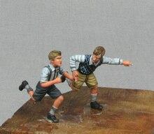 Résine Kits 1/35 SECONDE GUERRE MONDIALE des enfants qui courent en Résine Pas couleur Modèle figure BRICOLAGE JOUETS nouvelle SECONDE GUERRE MONDIALE WW2