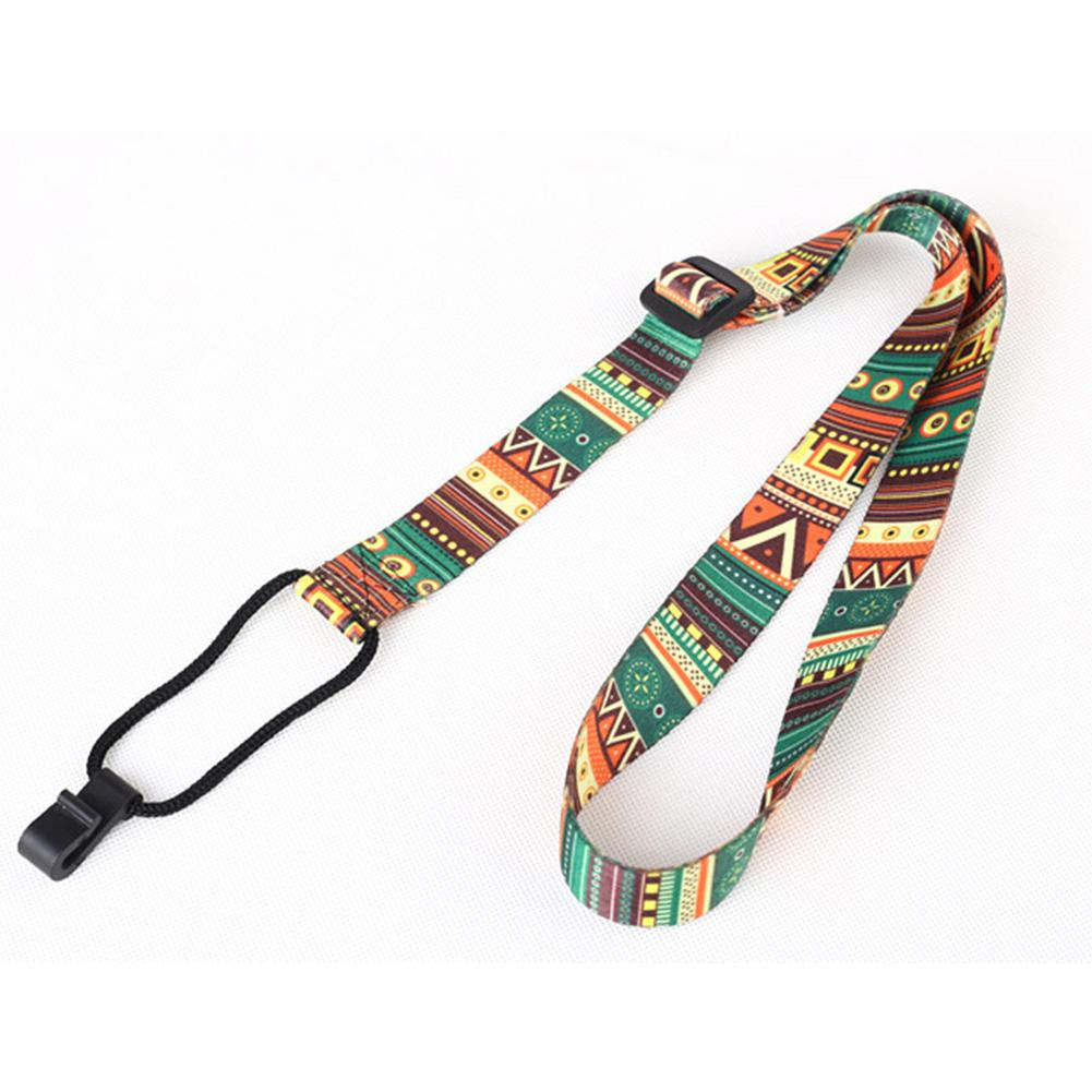 Ethnic Style Ukulele Strap Durable Adjustable Printing Ribbon Clip-on Hawaii Guitar Belt Sling Instrument Guitar Accessories