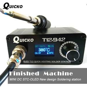 Image 1 - MINI T12 OLED Estación de soldadura electrónica de hierro 2019 nuevo diseño DC versión portátil T12 Digital iron T12 942 QUICKO