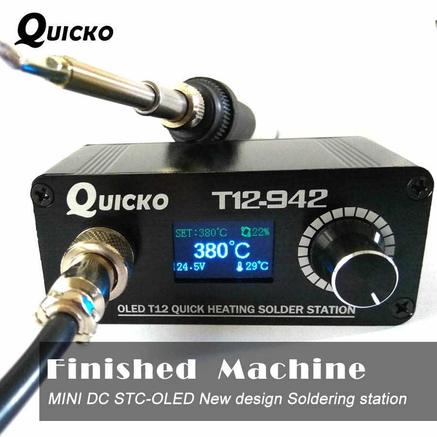 مصغرة T12 OLED لحام محطة الإلكترونية لحام الحديد 2019 جديد تصميم DC النسخة المحمولة T12 الرقمية الحديد T12-942 QUICKO