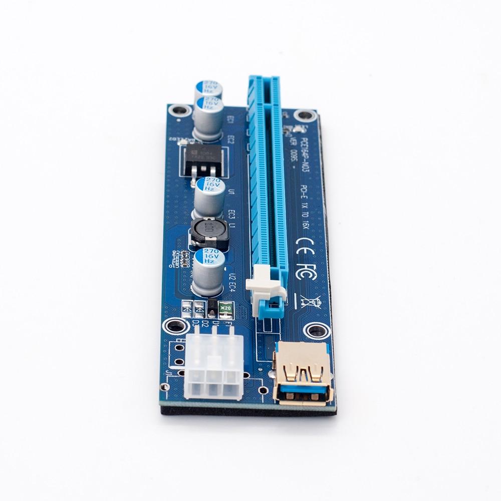 Pci E Riser Ver 009s Express 1x 4x 8x 16x Extender Adapter 30 Card Sata 15pin
