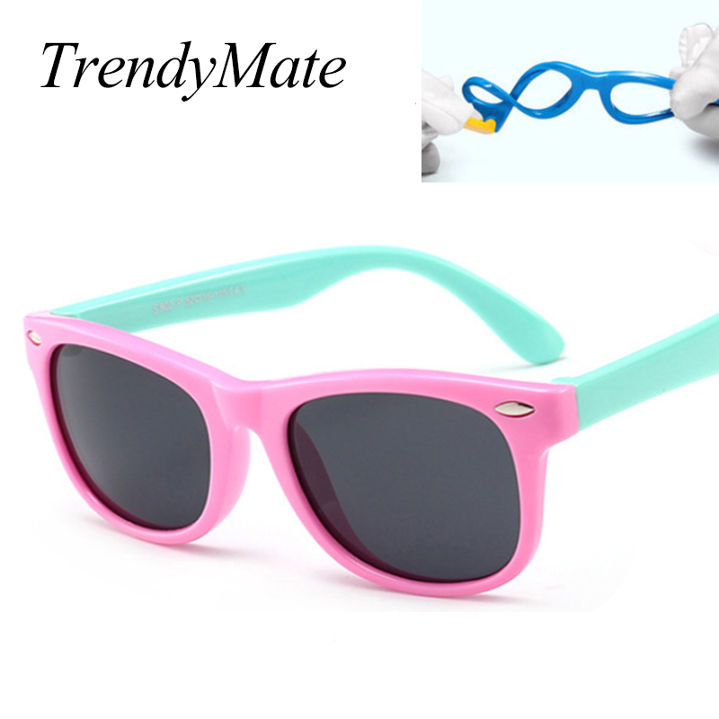 4f1cf232c69d TOP Polarized Kids Sunglasses Boys Girls Baby Infant Sun Glasses 100% UV400  Eyewear Child Shades Square Oculos Infantil 1102T