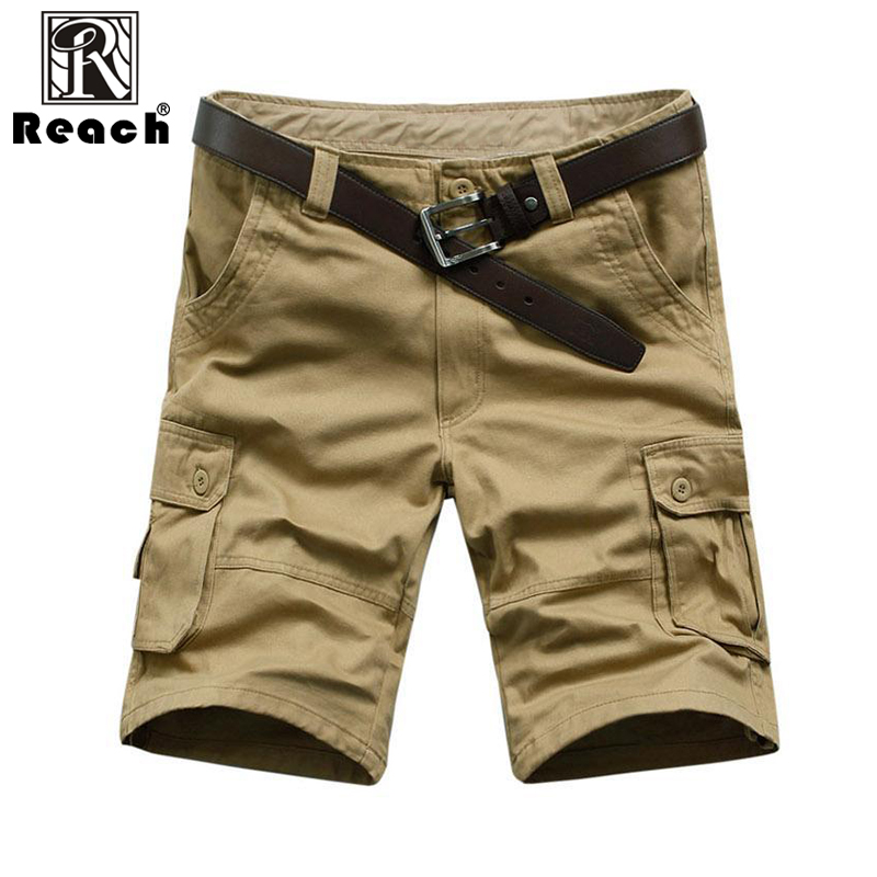 reach Men Shorts 2018 Pants Cargo Short Pants Men Summer With Pocket Military High Quality New Style Casual Cotton Zipper ...