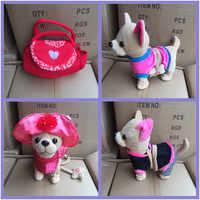 Robot Dog Electronic Toys Plush Pet Dog Interactive Dog Toy Singing Walking Bark Leash Teddy Toys For Children Birthday Gifts