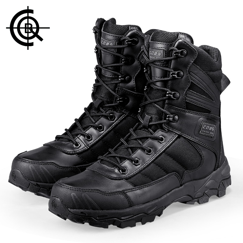 CQB Outdoor Sports Tactical Military Men Boots Lighteeight Shoes for Caming Hiking Special Shock Absorption Wear-resisting