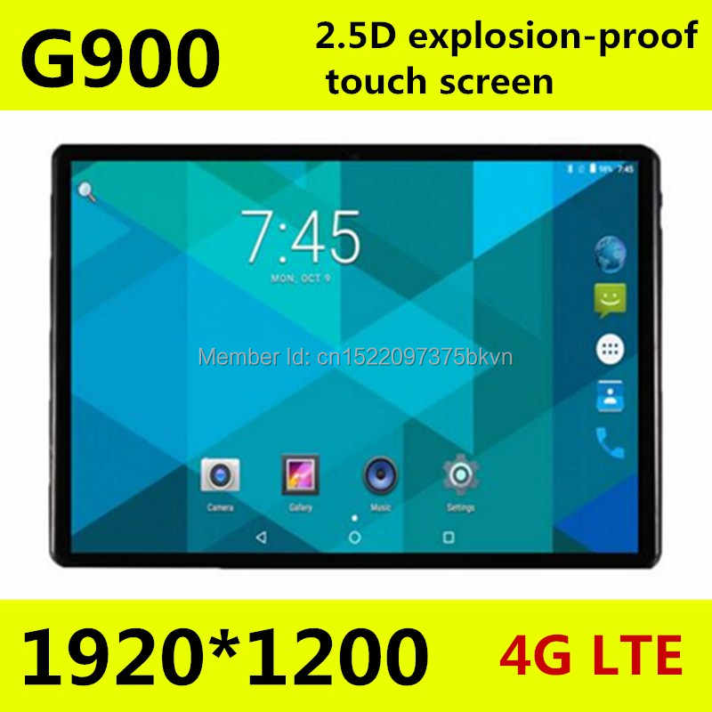 10,1 pulgadas Octa core tablet pc G900 2.5D pantalla Android 8,0 3G 4G LTE Dual SIM 1920*1200 IPS 4 GB 128 GB wifi Bluetooth tabletas