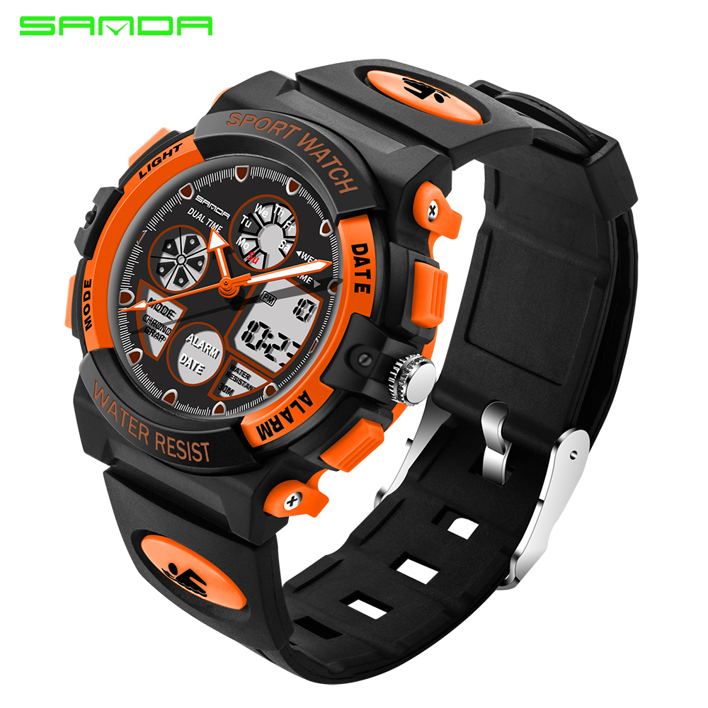 Cooperative Ohsen Boys Kids Children Quartz Sport Watch Alarm Date Chronograph Watches Led Back Light Waterproof Wristwatch Student Clock Back To Search Resultswatches
