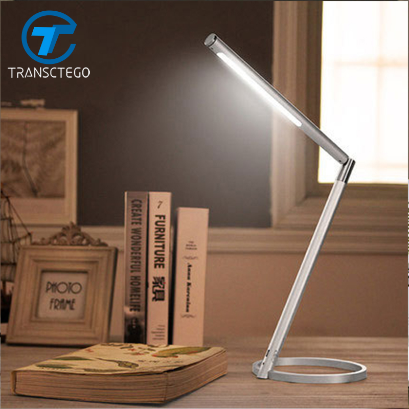 Adjustable USB Rechargeable Touch Sensor LED Desk Lamps Reading Desk Light Eye Protection LED Table Lamp led reading eye protection desk lamp adjustable brightness usb rechargeable led desk table lamp light with clip touch switch