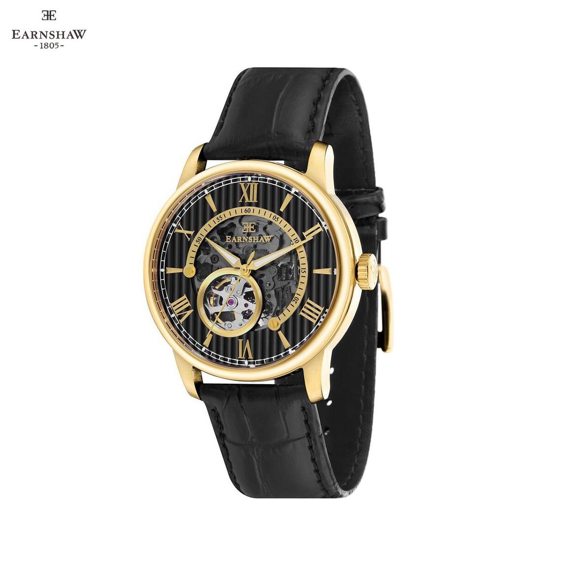 Наручные часы Earnshaw ES 8802 03 мужские механические с автоподзаводом на кожаном ремешке Механические часы    АлиЭкспресс