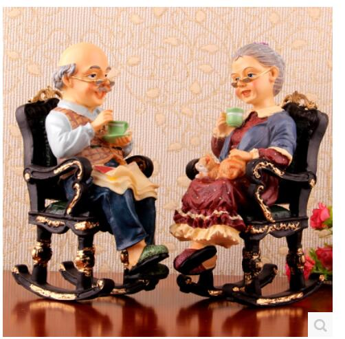 Creative character resin handicraft lovers gift place to live sitting room bedroom TV ark wine lovers ornament image