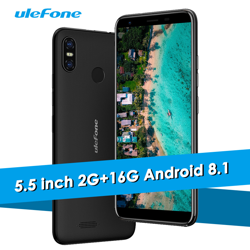 Ulefone S9 Pro 4G LTE Smartphone Android 8.1 Oreo 5.5 Inch 18:9 2G+16G Mobile Phone Face ID Fingerprint 13.0MP 3300mAh Cellphone