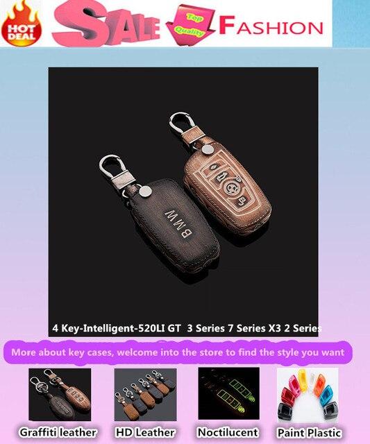 Высокое качество стайлинга автомобилей кожаный ключи от машины сумка чехол интеллектуальные / складной граффити специально для 520LI X3 GT новый 3 / 2 / 7 серии