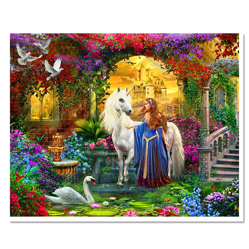 direct selling 2017 3d diamond embroid modern resin paintings scenic handmade home decoration full square time-limited