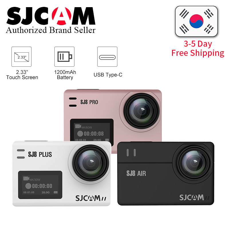 SJCAM SJ8 Air & SJ8 Plus & SJ8 Pro 1290 P yi 4 K caméra d'action WIFI télécommande aller Étanche pro camara deportiva SJ sport DV