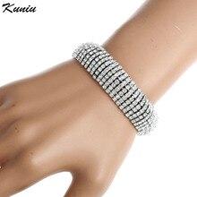 Fatpig 2017 Luxury Crystal Golden Bracelets For Women Bracelets & Bangles Femme Bridal Wedding Jewelry Charm Bracelet
