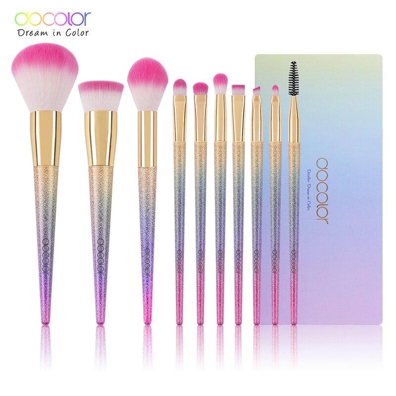 Docolor 10PCS makeup børste sæt Fantasy Set Professionel høj - Makeup - Foto 6