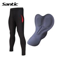 Santic Women Cycling Pants Winter Fleece Thermal Road Bike Pants Padded Bicycle Pants Cycle Trousers Pantaloni Ciclismo