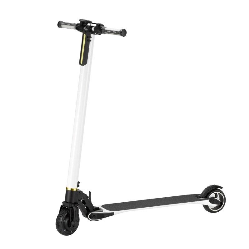 Scooter électrique pliant 5 pouces planche à roulettes électrique 2 roues avec hoverboard d'alliage d'aluminium de scooter d'absorption de choc
