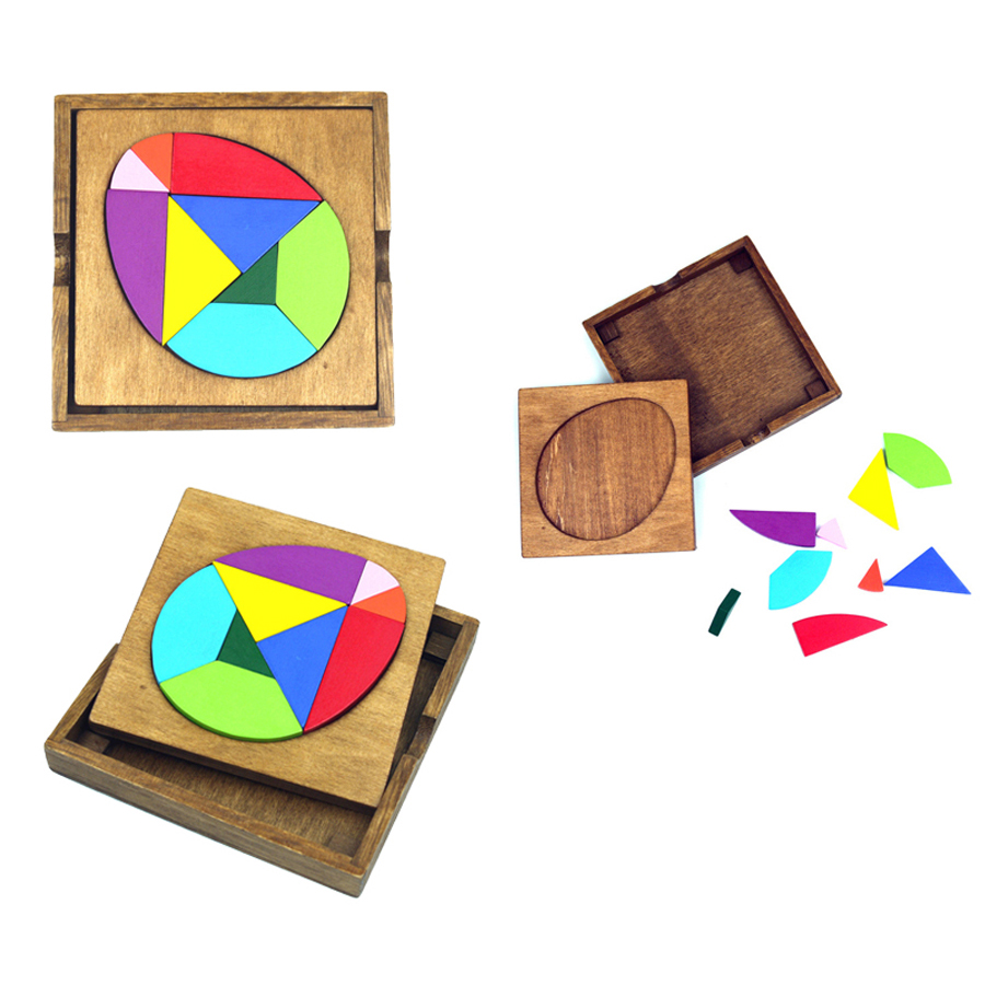 Baby Jigsaw Puzzle Toy Wood Kids Tangram Game Baby Wooden