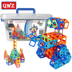 QWZ 110 шт. Мини Магнитный конструктор Строительный набор модель и строительство пластиковые магнитные блоки Развивающие игрушки для детей по...