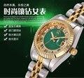 HK Crow Reginald plateado oro pequeño de acero inoxidable de la manera impermeable calendario reloj Para Hombre Mujer de los Amantes de Regalo de Lujo