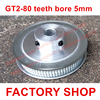 High Quality 1PC 80 Teeth Bore 5mm GT2 Timing Pulley 80 Tooth Fit Width 6mm Of
