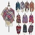 Za Winter Chic Knit Stole 2017 Tartan Oversize Scarf Shawl Grid Check Women Bandana New Designer Acrylic Plaid Blanket Scarves