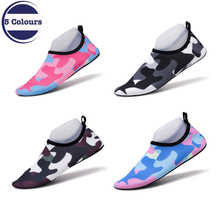 Summer Unisex Quick-drying Colorful Shoes Anti-slip Snorkeling Seaside Beach Swimming Fins Diving Socks Rubber