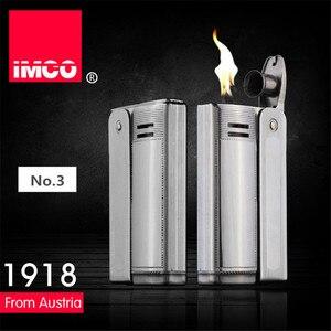 Image 2 - Brand IMCO 6800 Lighter Stainless Steel Lighter Original Oil Gasoline Cigarette Lighter Vintage Fire Retro Petrol Gift Lighters