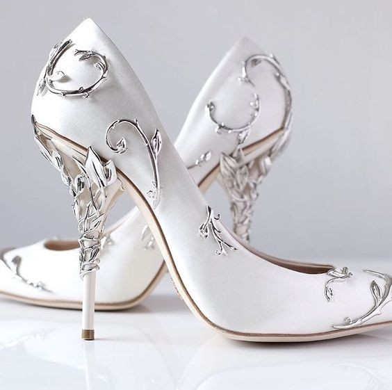 Ornate Filigree Leaf White Women Pumps Chic Satin Stiletto Heels Shoes Low-cut Vamp Pointed Toe Eden Heel Bridal Shoes Women fashion women wedding shoes rhinestone square buckle 90mm middle stiletto heels low cut vamp pointed toe jeweled bridal shoes
